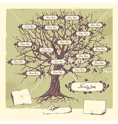 18 Vector Family Tree Art Images