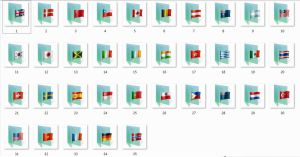 Flag Folder Icons