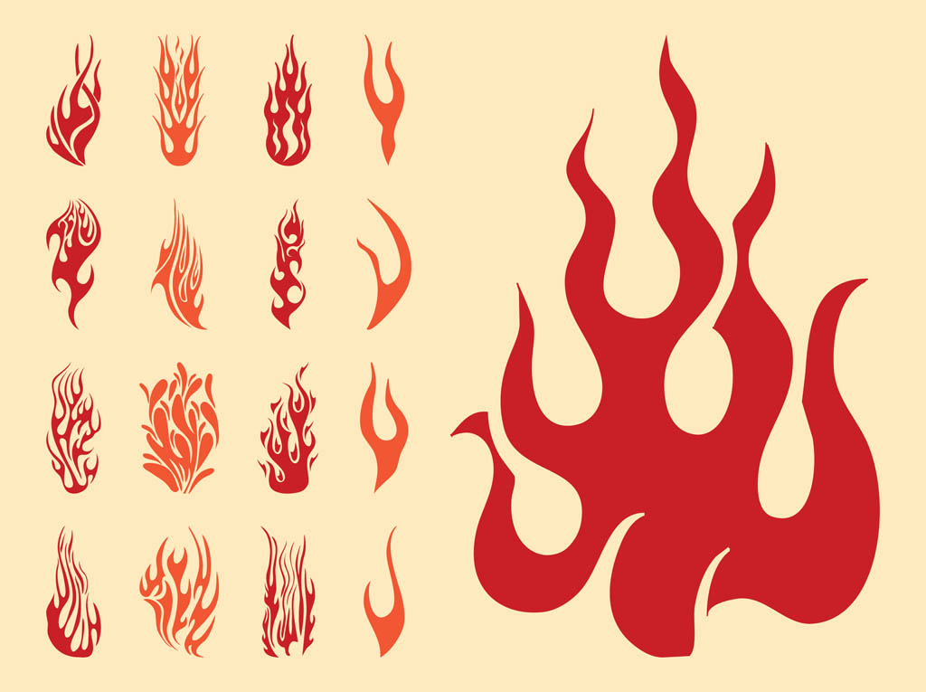 14 Long Flame Vector Images