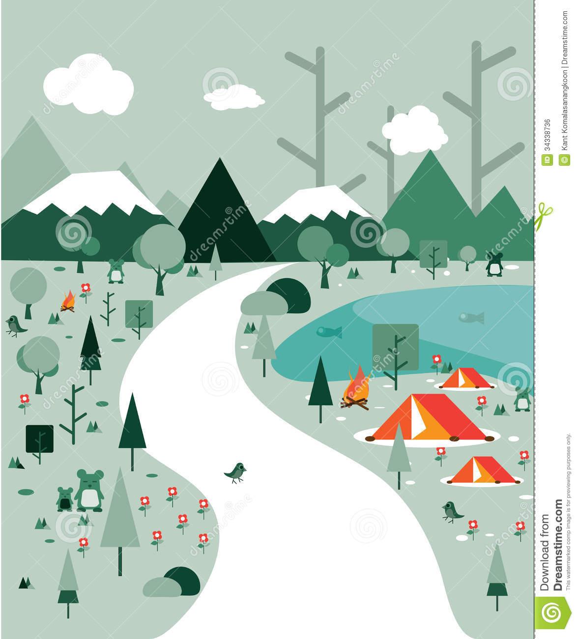 Forest Village Clip Art