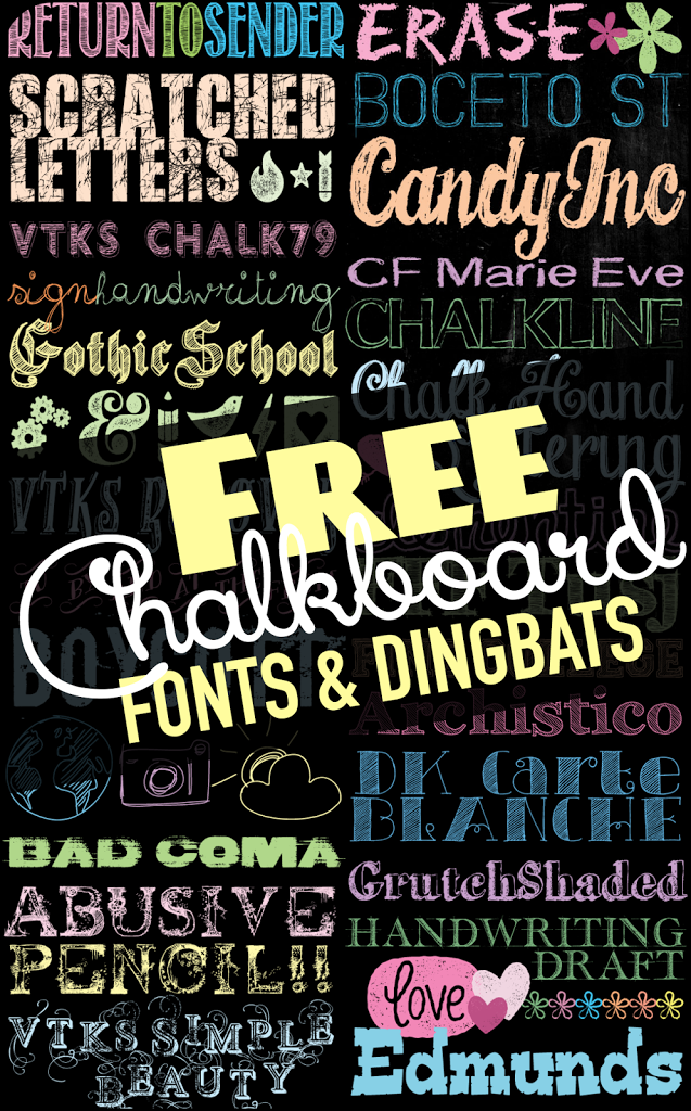 15 School Chalkboard Fonts Images