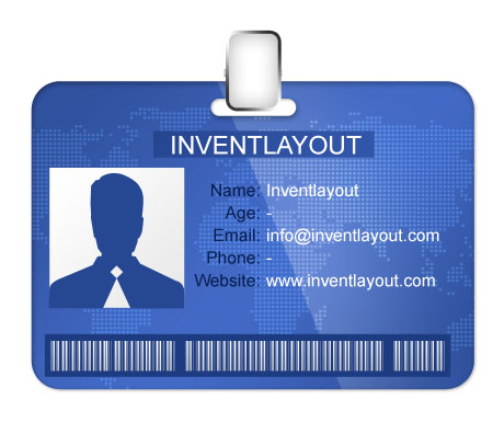 13 Id Badge Psd Images Free Employee Id Badge Template Id