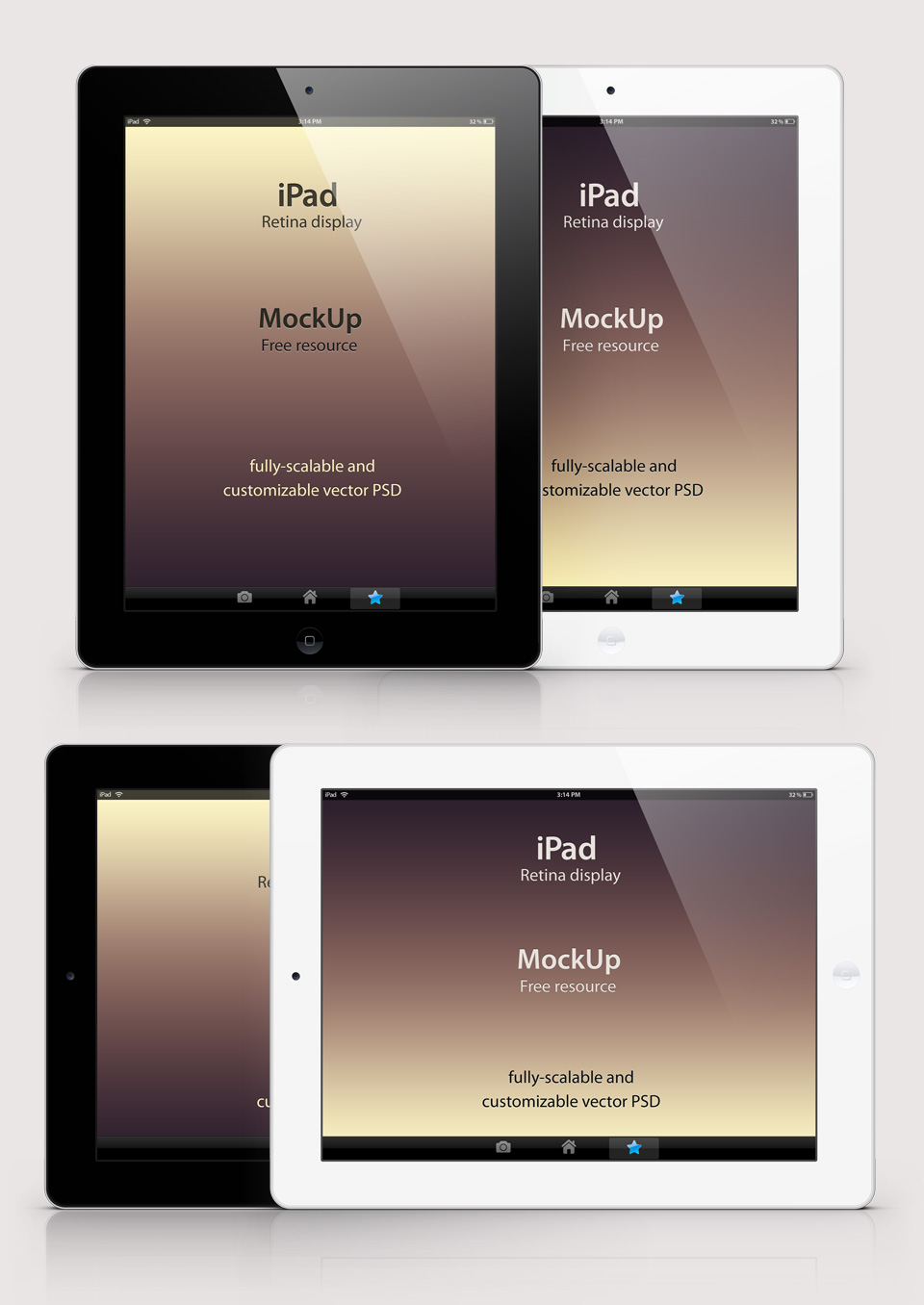 14 IPad Mockups Free Psd Above Images