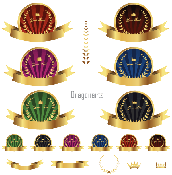 Free Round Label Gold Vector