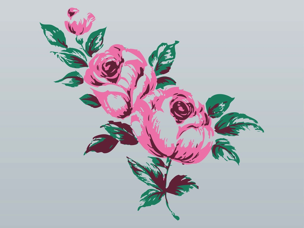 10 Free Vector Rose Bouquet Images