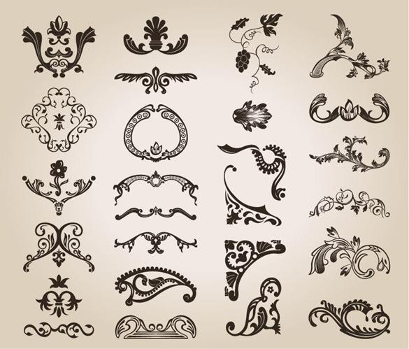 Free Vintage Floral Pattern Design