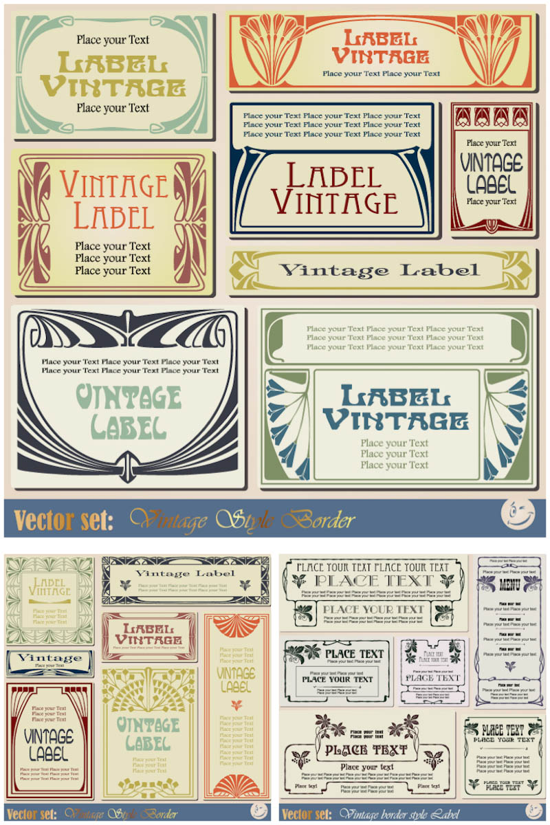 19 Vintage Label Template Images