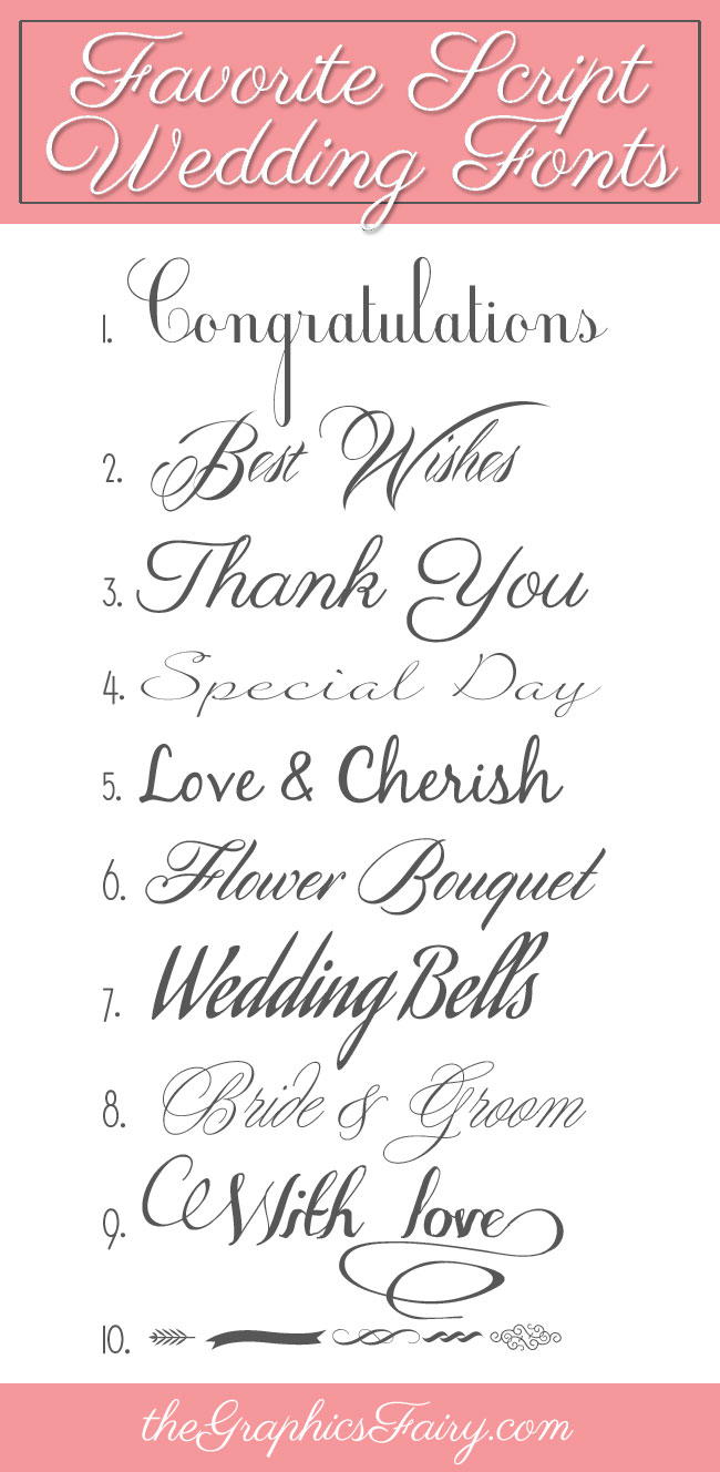 12 Wedding Fonts And Graphics Images