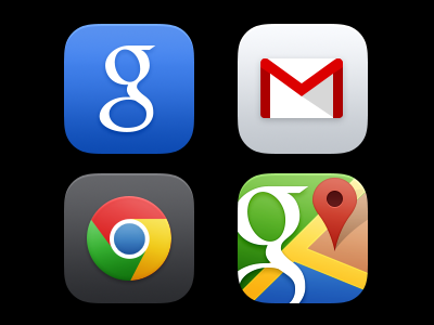 Google Apps for iOS 7 Icons