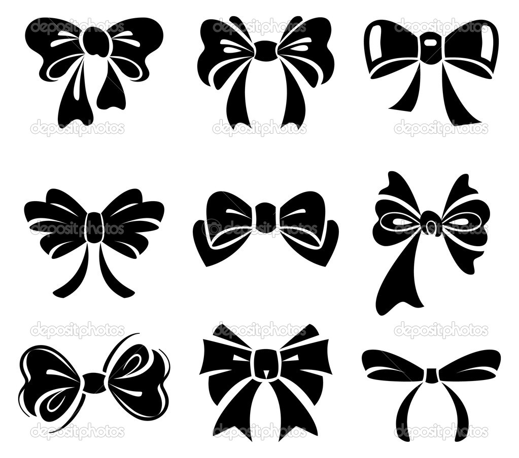 15 Simple Vector Bow Images