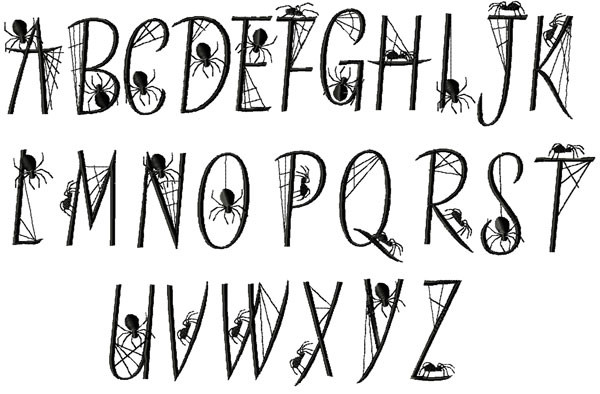 5 Halloween Spider Font Images