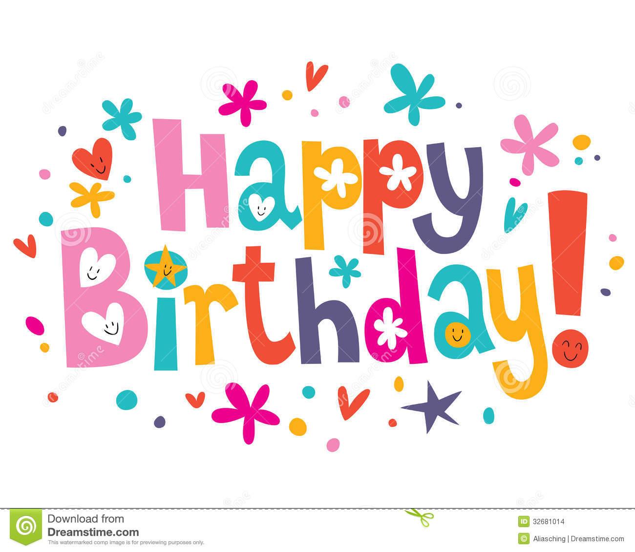 Happy Birthday Text Art Cake