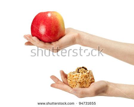 5 Healthy Food Vector Hands Images