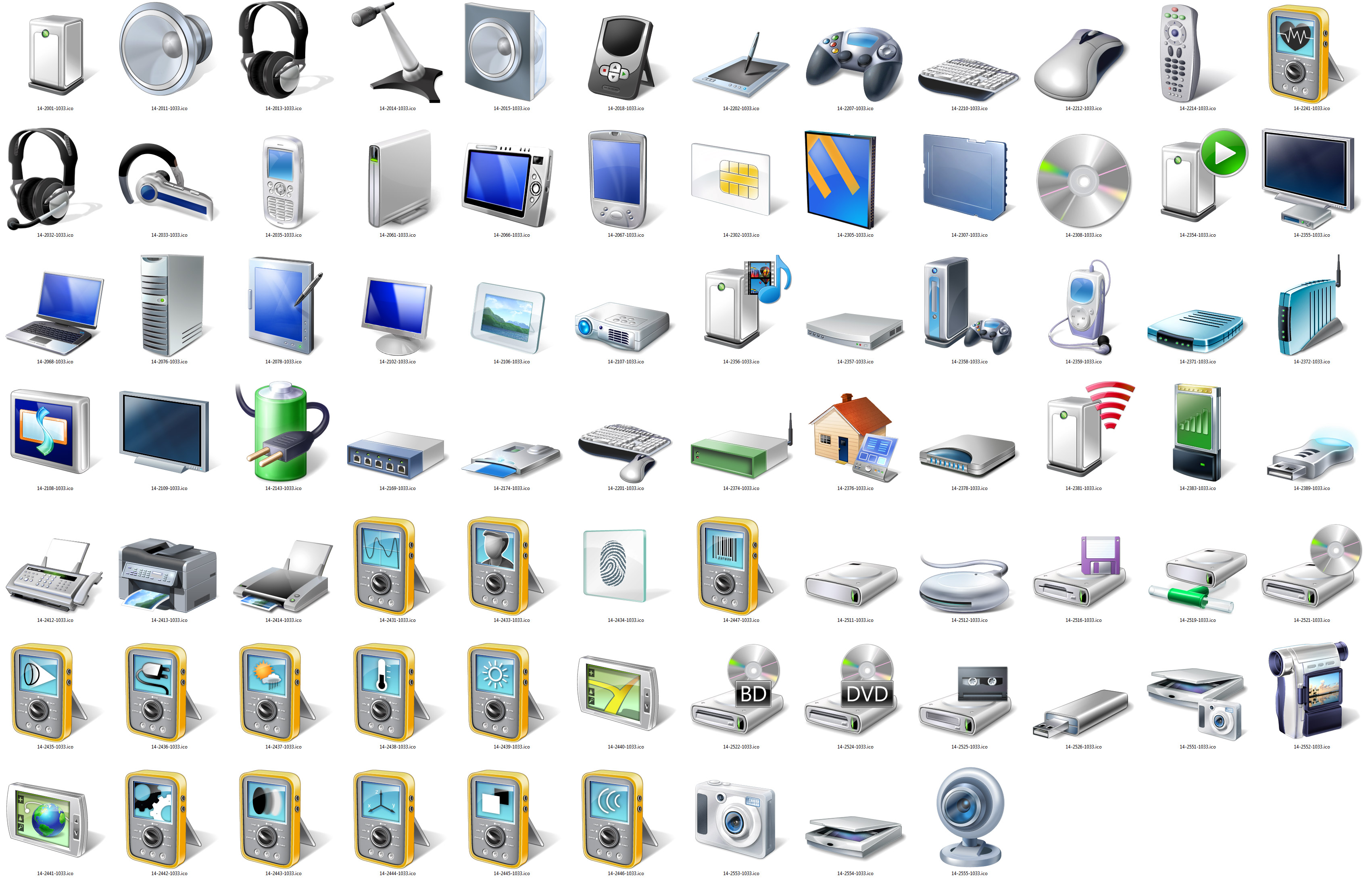 High Resolution Windows 7 Icons