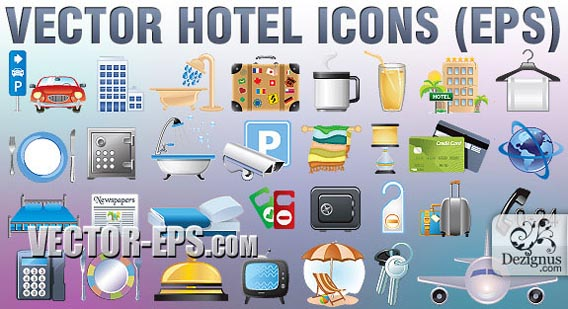 13 Vector Icons For Hotel Images