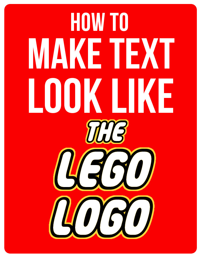 How to Make LEGO Font