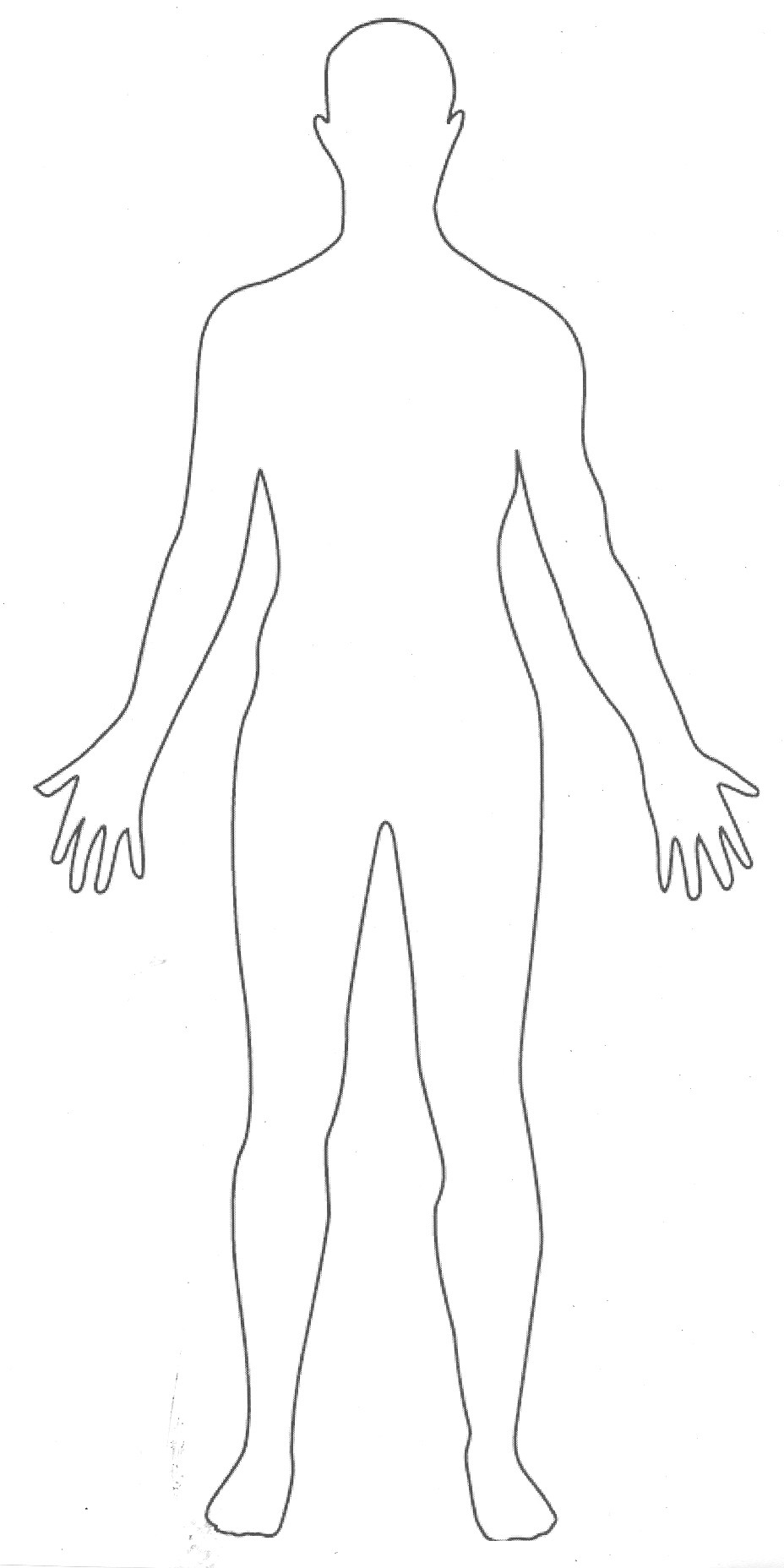 Human Body Outline Template