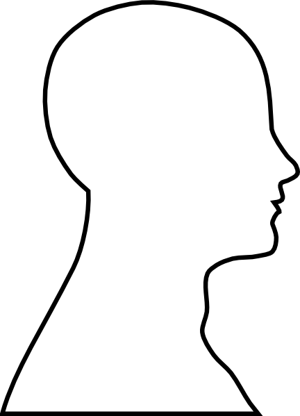 Human Head Outline Template