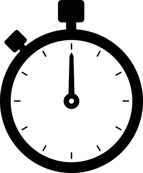 11 Stopwatch Icon.png Black And Images