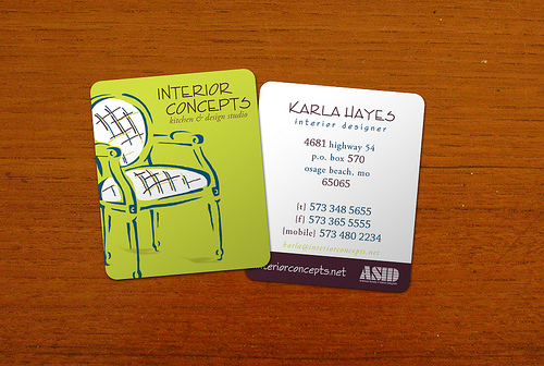6 Modern Interior Design Business Cards Images