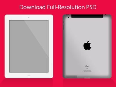 iPad Template PSD
