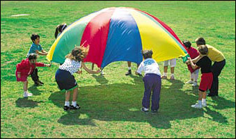13 Parachute Stock Photos Families Playing Images