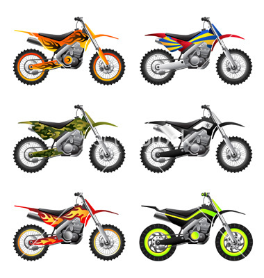 9 Sport Motorcycle Vectors Images