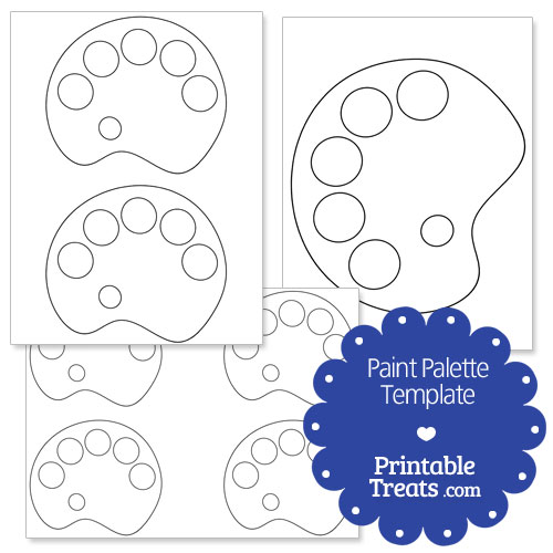 Paint Palette Printable Template
