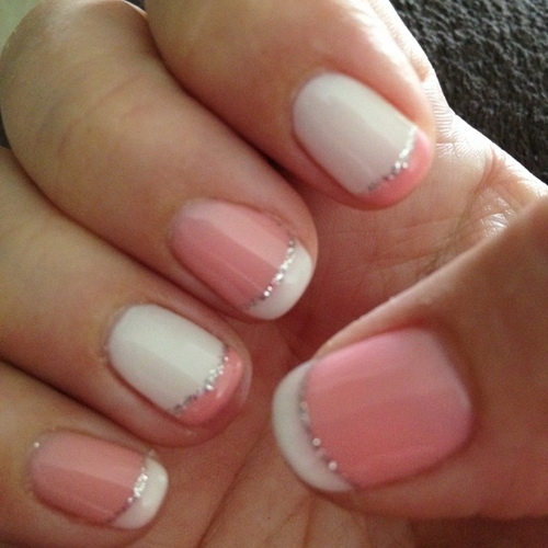 15 Pink And White Nail Designs For Short Nails Images