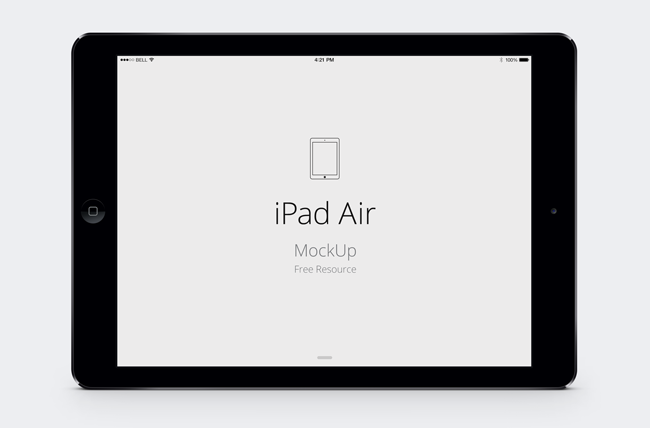 PSD Vector Mockup iPad Air