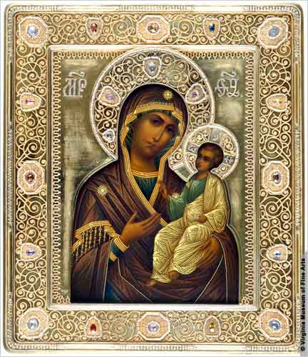 12 Religious Russian Madonna & Child Icon Images