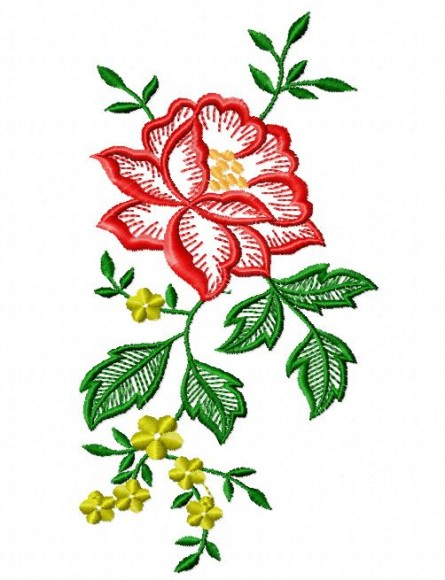 14 Rose Embroidery Designs Images