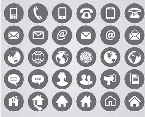 Round Business Icons