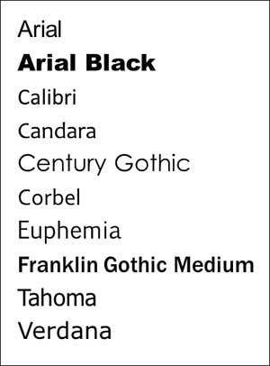 12 Serif Fonts List Images - Popular San Serif Fonts