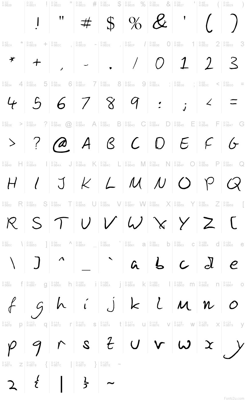 Script Handwriting Fonts