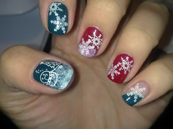 13 Christmas Designs For Short Nails Images