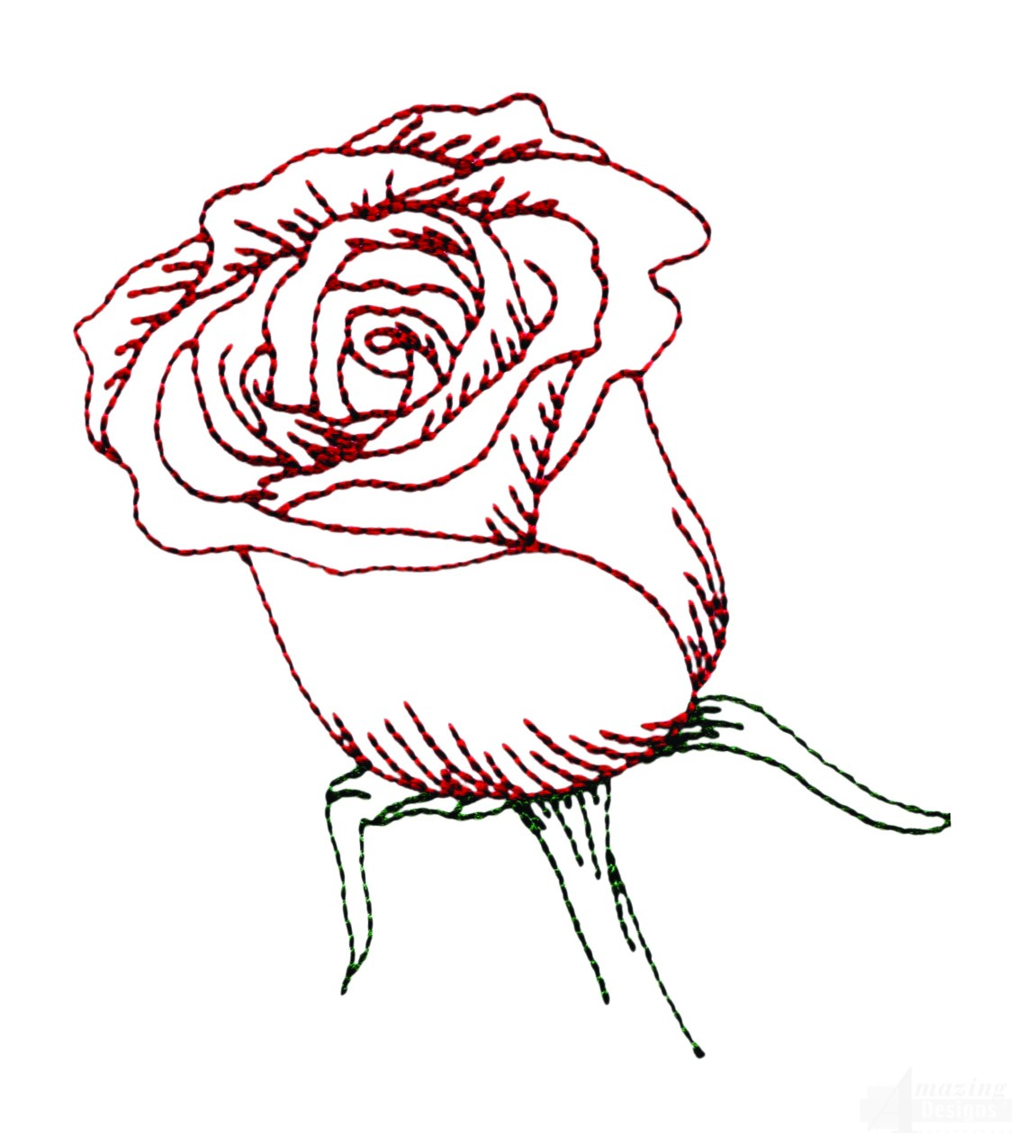 Rose embroidery designs images machine