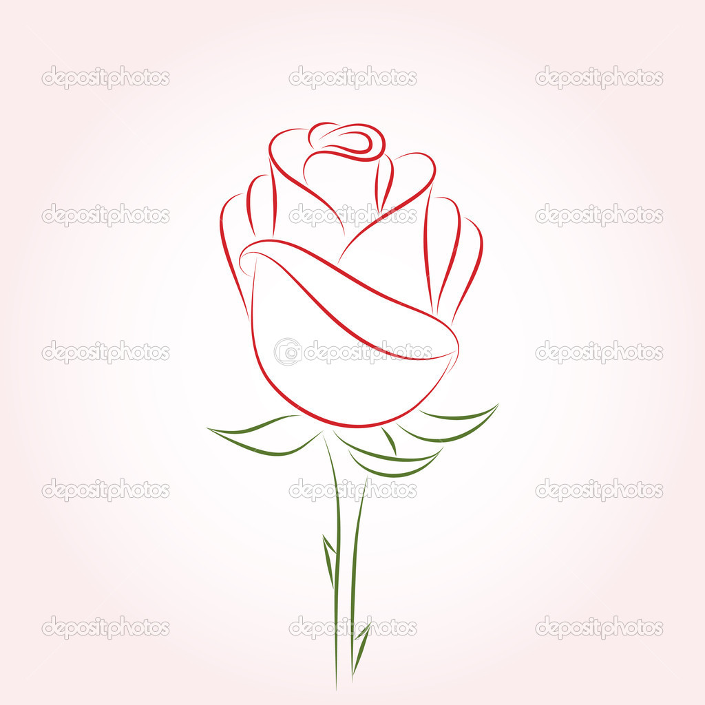11 Single Rose Vector Format Images
