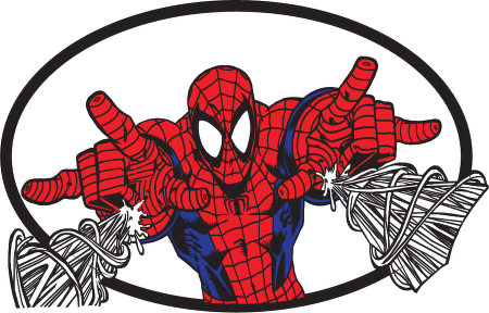 Spider Man Web Logo Vector