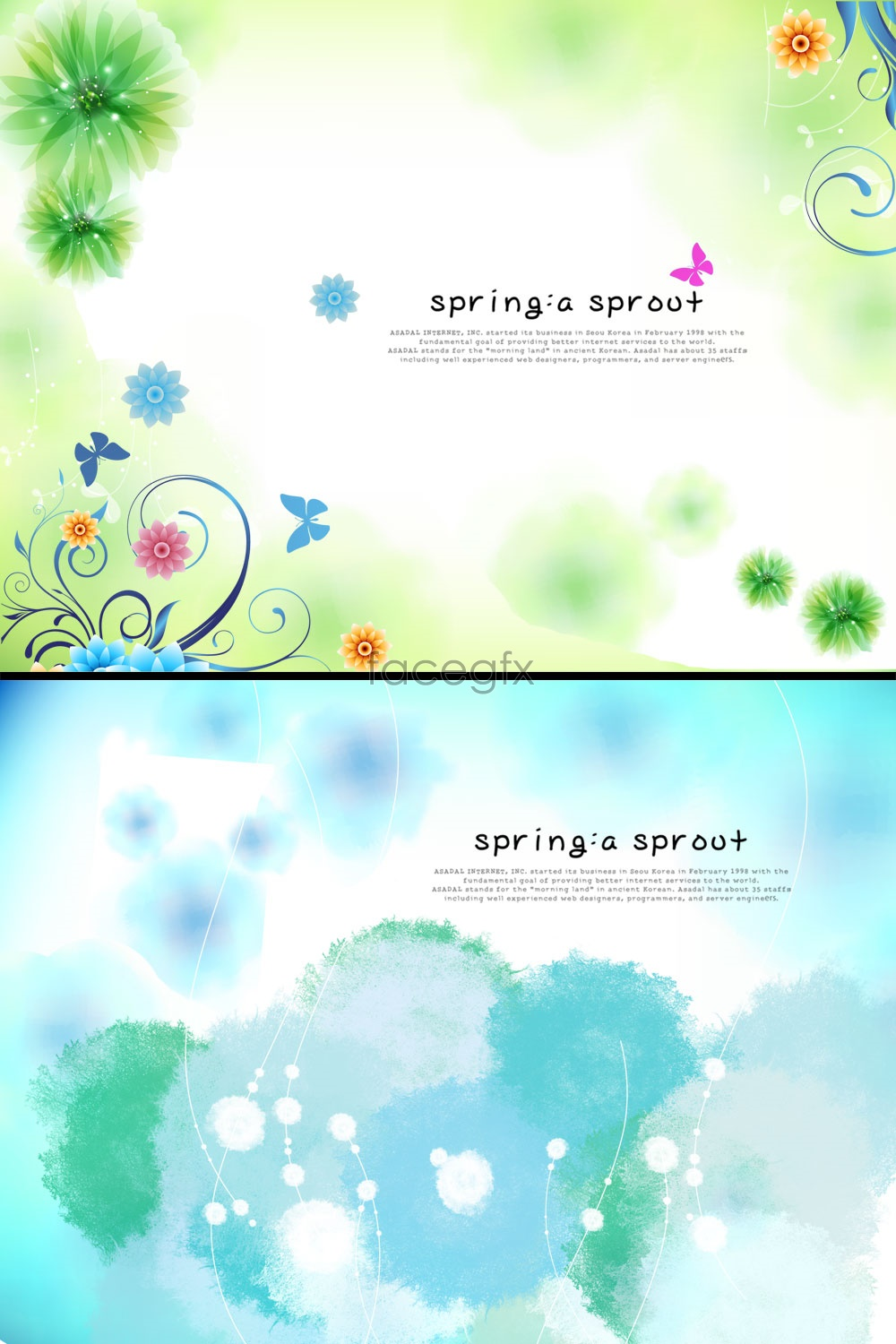 Spring Color Patterns Photoshop