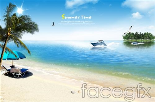 Summer Beach Scenery