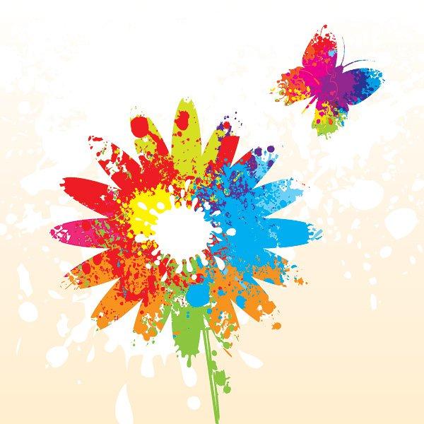 Summer Flower Vector Graphic