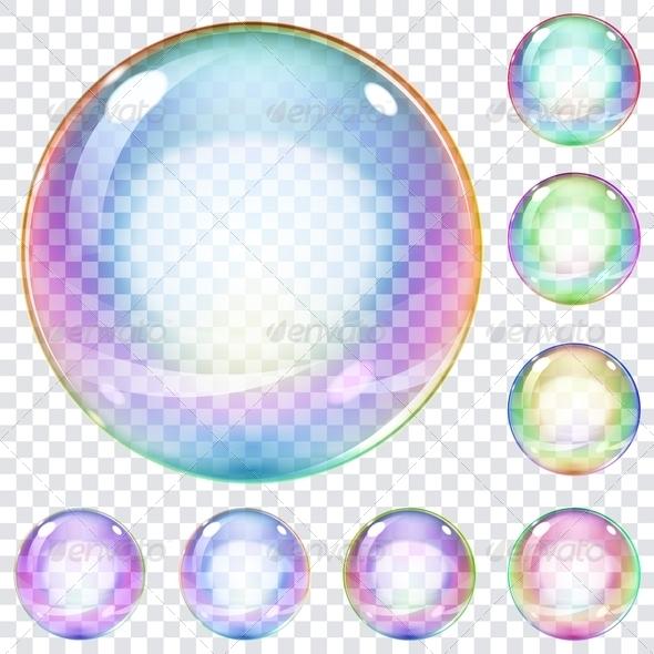 8 PSD Transparent Soap Bubbles Images
