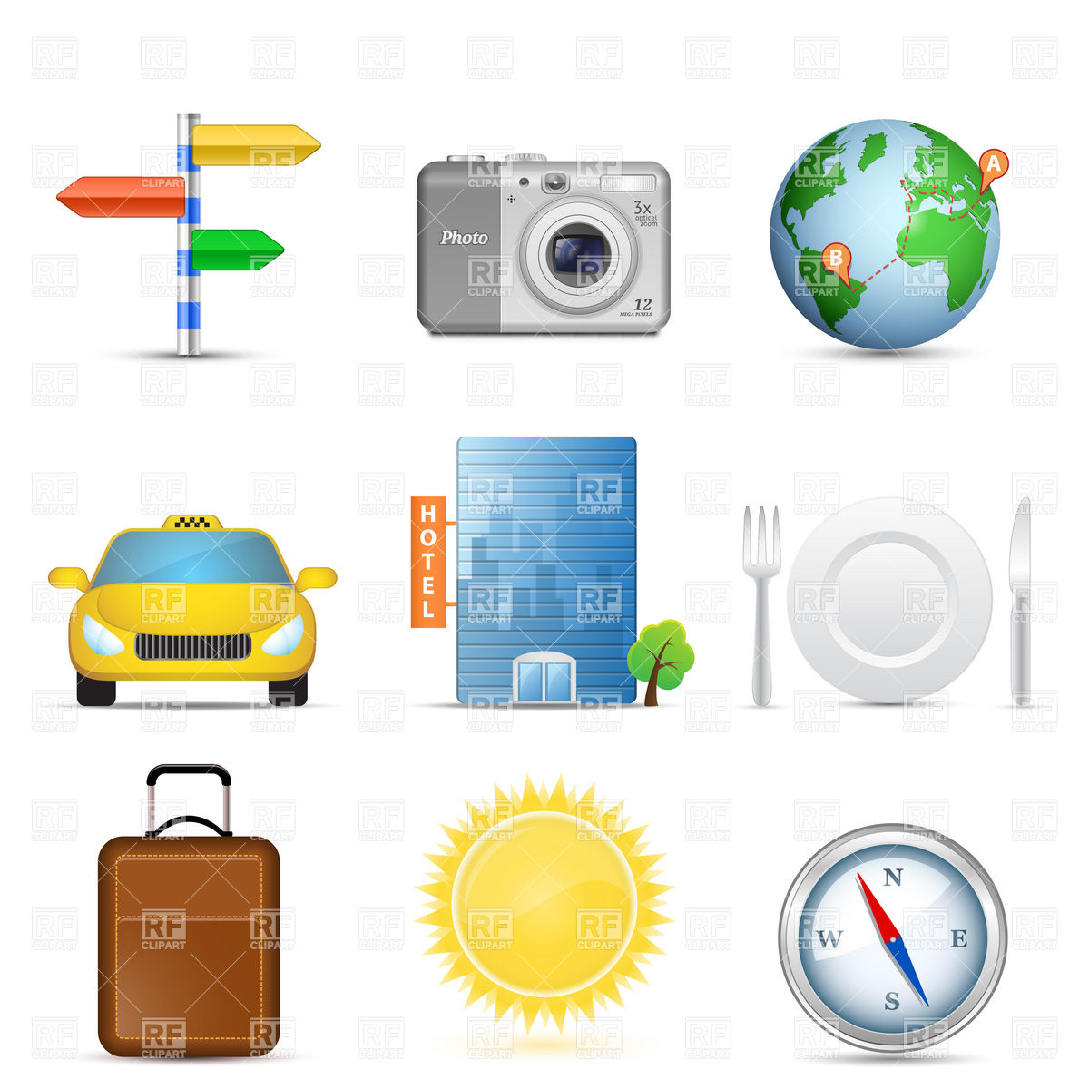 Travel Icon Clip Art