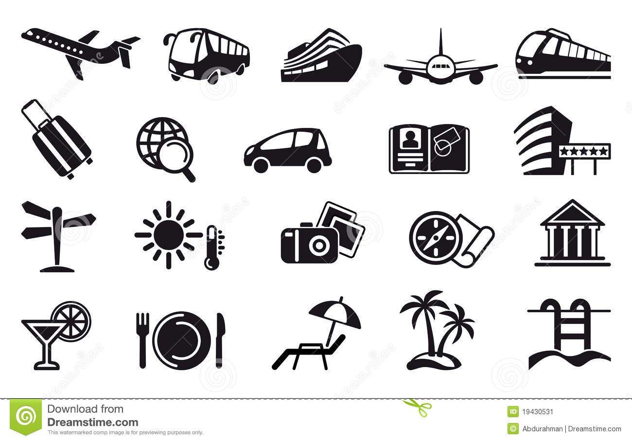 Travel Symbols Icons