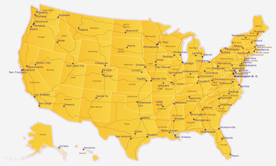 Us Map Vector