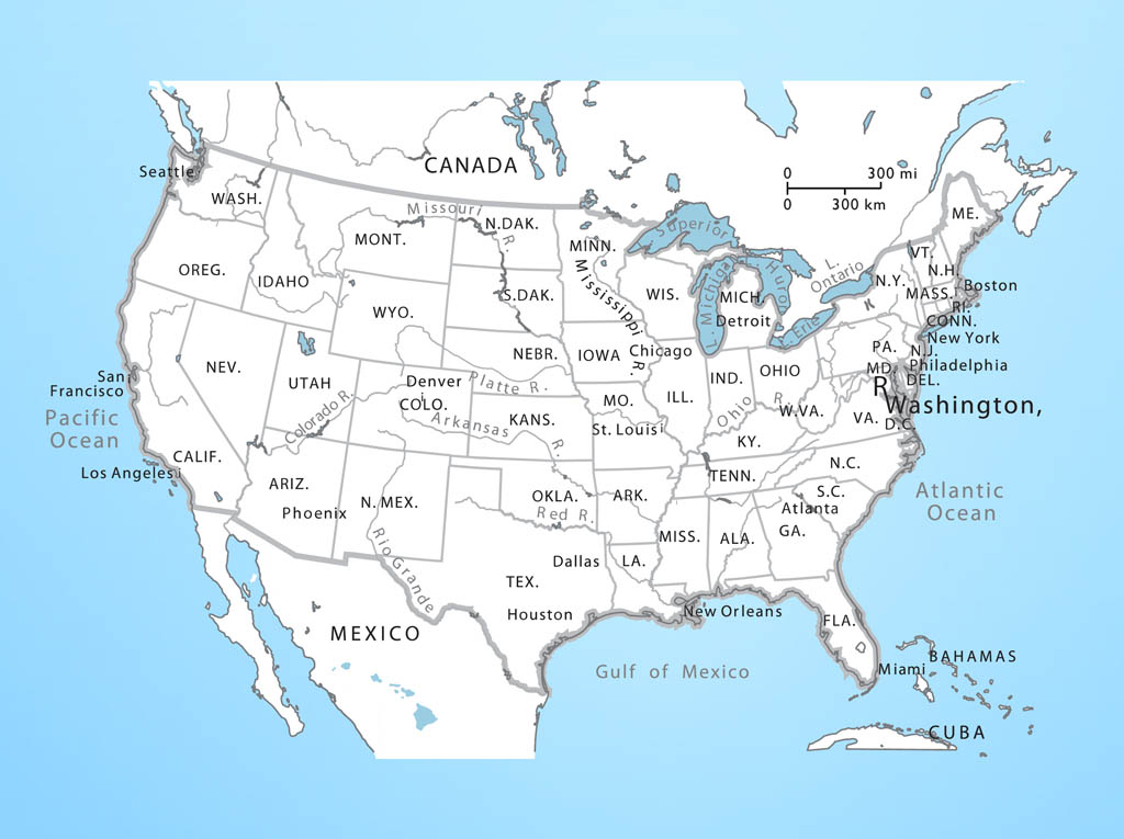 USA Map Vector Free