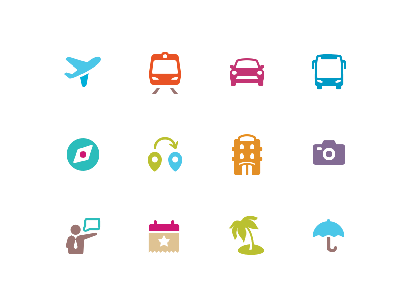 Vacation Travel Icons