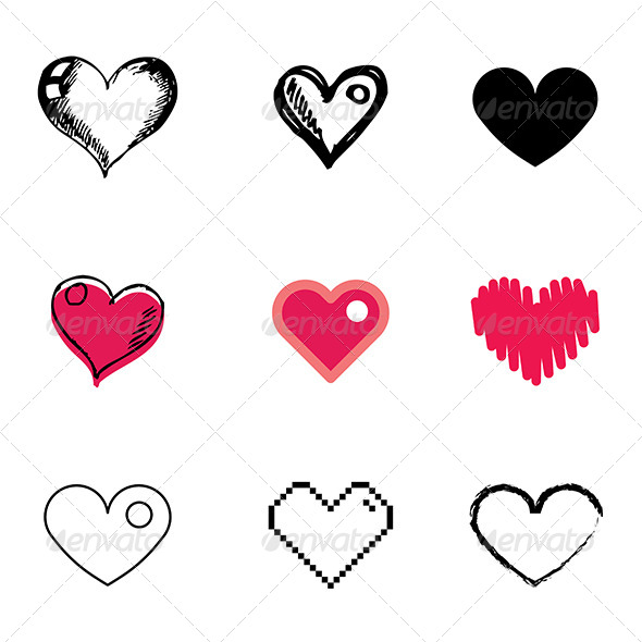 8 Plus Icon Vector Heart Images