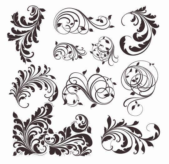 Vector Vintage Designs Pattern
